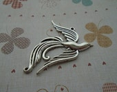 20pcs 45x45mm flying bird Antique Silver Retro Pendant Charm For Jewelry Pendant