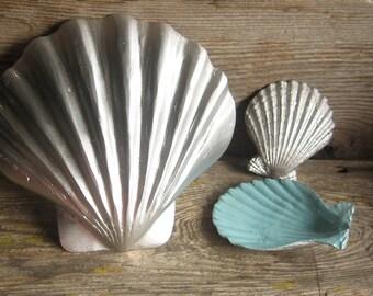 Nautical Display Painted Sea Shells- Set of three,Summer Decor,Beach Decor,Home Decor