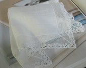 Gift for Bride - Vintage Lace Hanky