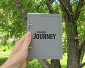 Travel Journal, Vacation Journal, Holiday Journal, Travel Scrapbook, Travel Diary - The Great Journey in Gray Stone