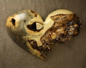 Heart wood carving wall sculpture special gift for couples
