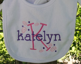 Baby bib// Personalized baby bib// terry baby bib//baby shower gift