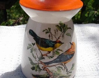Brightly Colored Warblers Ceramic Tea Light Tart Burner