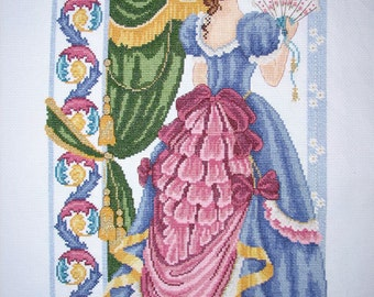 New Finished Completed Cross Stitch - Temperament woman - P175