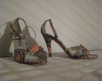 Genuine Snakeskin Vintage Stiletto Heels