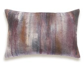 Burgundy Red Charcoal Gray Rust Orange Beige Decorative Lumbar Pillow Cover 12x18 inch Natural Linen One Of A Kind