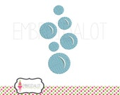 Bubble machine embroidery design. Cute bubble embroidery design. Bath time embroidery great for baby and kids items.