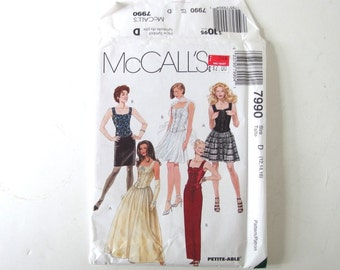 UNCUT Vintage Sewing Pattern for Dress and Shrug, McCalls 7990 Sizes 12, 14, 16