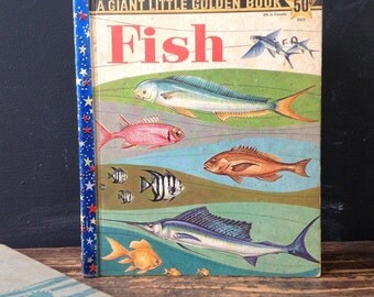 Giant Little Golden Book FISH 1959