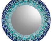 Custom Wall Mirror - Round Mosaic Mirror