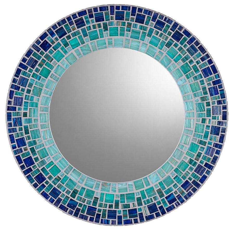 Custom wall mirror round mosaic mirror for Mosaic mirror