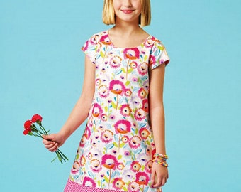 A Learn to Sew Dress Pattern, Easy Pullover Dress Pattern, McCall's Sewing Pattern 7111