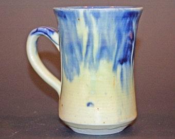 Ceramic Coffee Mug, Pottery Handmade, Blue and Green Pottery Mug, Ceramics and Pottery, Tea Cup, Soup Mug