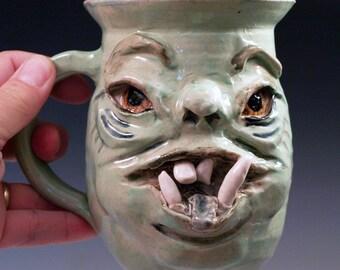 Large Monster Mug in Mint Green