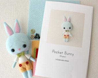 Bugsy Pocket Bunny Pattern Kit
