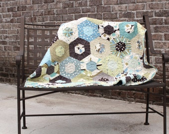 Custom Quilts for Sale / Quilts for Boys / Blue brown Quilts / Crib bedding / Baby Shower / Nursery / Handmade / Made to Order
