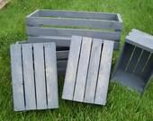 wood crates , wedding centerpiece ,Wood Planter Box , wedding reception , rustic wedding , wedding decor , mason jar holder , rustic crates