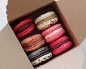 20 mini  boxes in kraft for french macaron