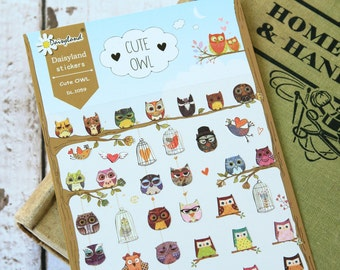 Daisyland CUTE OWL scrapbooking stickers