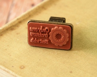 ONLY ONE Travel Landmark rubber stamp retro seal