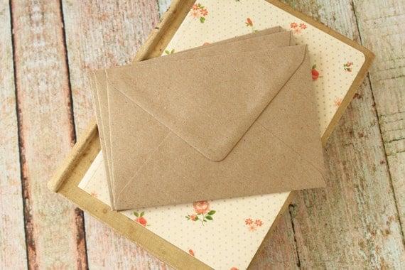 plain Kraft C6 envelopes