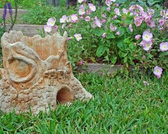Vintage Concrete Faux Bois French Garden Planter Stump - FREE SHIPPING - Payment Plan Available!