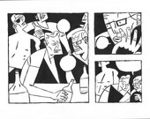 Red Right Hand original comic art page 3 top