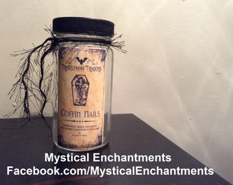 Transylvania Coffin Nails Halloween Specimen Jar