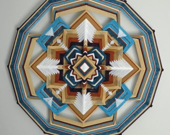 The Pearl Within, a 24 inch, wool yarn, Ojo de Dios, by custom order