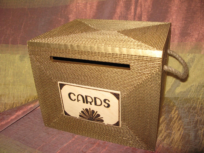 Wedding Card Box Card Box Gatsby Card Box With Lock