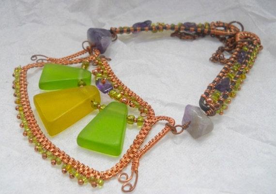 Woven Wire Egyptian Style Fan Collar