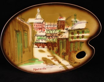 Dish - Decorative Plate - Maurice Litrillo - Montmartre - Paris