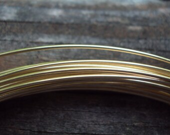 10 ft - 22g round wire, 14kt gold filled,  half hard, high quality, other lengths available
