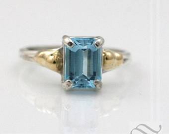 Topaz in sterling with yellow gold - Everyday ring