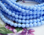Czech 4mm baby blue round beads, lot of (100) - DZ110
