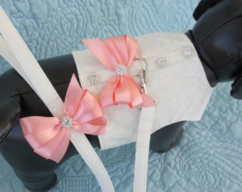 Wedding Dog Harness & Leash Set  Custom Made