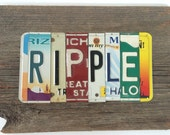 RIPPLE oOAK the Grateful Dead upcycled recycled license plate art sign tomboyART peace