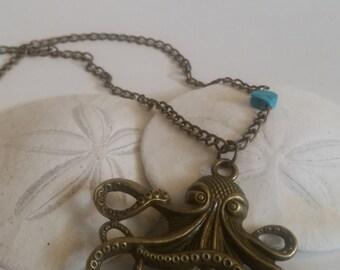 Kraken Bronze necklace