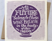 Dreams and Goals Encouragement Graduation Card