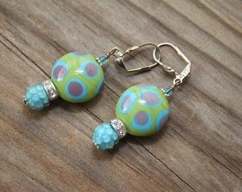 Dangle drop earrings Updated Retro Look #17