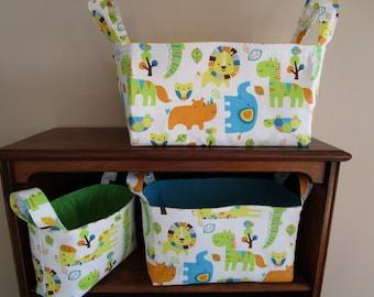Nesting Basket PATTERN, Nursery Storage Basket, 3 Sizes, easy sewing pattern, Fabric Bin, Organization, Nursery Decor, Diaper Storage