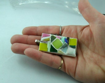 Glass Art - Mosaic art - Mosaic pendant - Mosaic jewelry - Mixed media art - Mixed media pendant - jewelry - Mosaic  lover gift - Mosaic