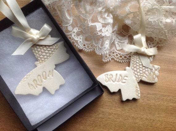 Bride And Groom Wedding Gifts: Bride And Groom Butterfly Wedding Gift Keepsake Ceramic Same