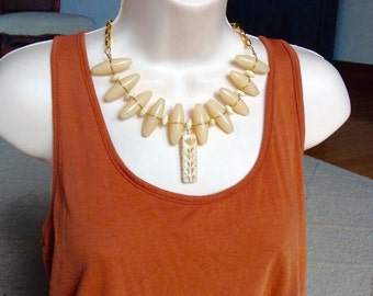 Wild Side button necklace