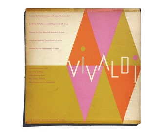 "Alvin Lustig record album design, 1953. ""Vivaldi"" LP"