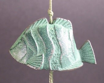 Vintage Japanese  Green  Fish  Bell/Windchime