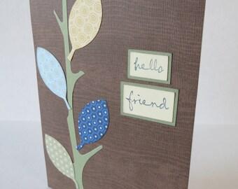 Hello Friend Masculine Christian Friendship Card With Scripture