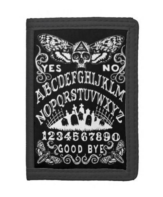 Death Head Moth Ouija trifold wallet