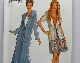 New Look 6263, Misses' Jacket and Skirt Pattern, Sewing Pattern, Misses', Size 6 to 16, Uncut