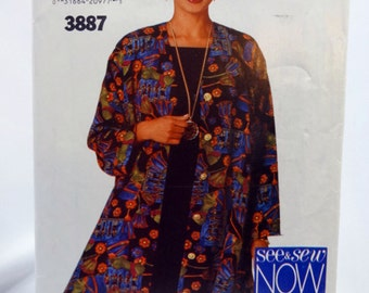 See & Sew 3887, Misses' Jacket and Dress Sewing Pattern, Misses', Size 6, 8, 10, Uncut